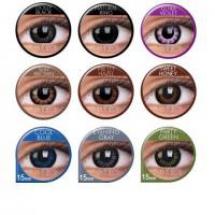 Krycí 3měsíční barevné kontaktní čočky s průměrem 15 mm ...